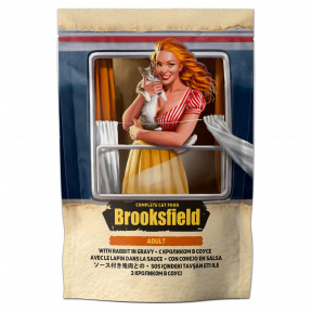 Влажный корм для кошек BROOKSFIELD Adult Rabbit с кроликом (кусочки в соусе) 85 г