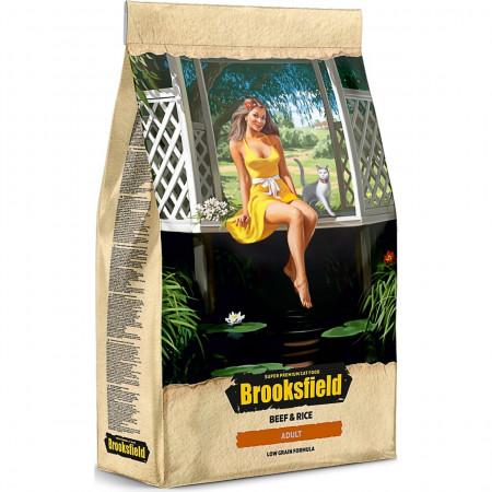 Сухой корм для взрослых кошек BROOKSFIELD Adult низкозерновой, с говядиной с рисом 7.5 кг