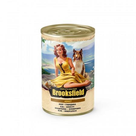 Влажный корм для собак BROOKSFIELD Adult с говядиной и с рисом 400 г