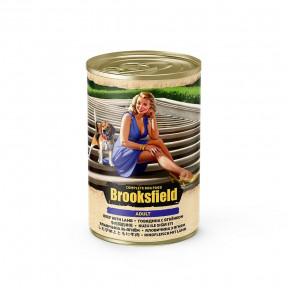 Влажный корм для собак BROOKSFIELD Adult с говядиной, с ягненком и с рисом 400 г
