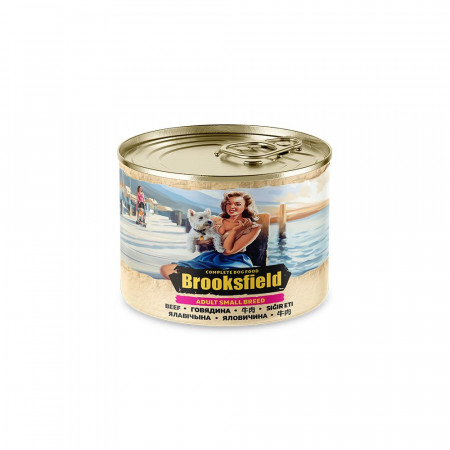 Влажный корм для собак BROOKSFIELD Adult Small Breed с говядиной, и с рисом (для мелких пород) 200 г