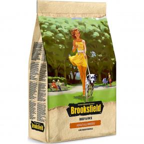 Сухой корм для собак BROOKSFIELD Adult All Breed низкозерновой, с говядиной с рисом 12 кг