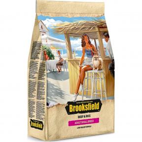Сухой корм для собак BROOKSFIELD Adult Small Breed низкозерновой, с говядиной с рисом (для мелких пород) 3 кг