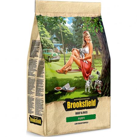 Сухой корм для щенков BROOKSFIELD Puppy низкозерновой, с говядиной с рисом 3 кг