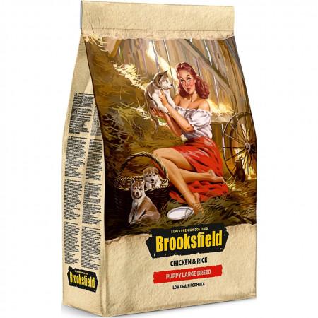 Сухой корм для щенков BROOKSFIELD Puppy Large Breed низкозерновой, с курицей с рисом (для крупных пород) 12 кг