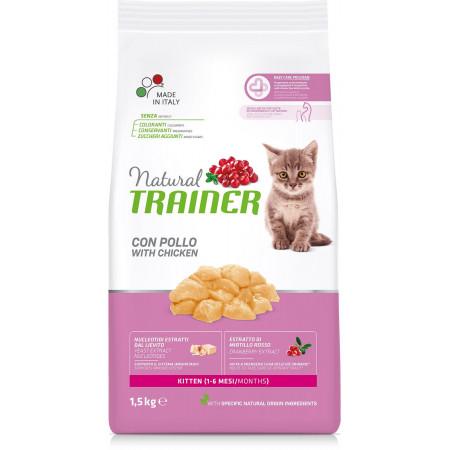 Сухой корм для котят от 1 до 6 месяцев Natural TRAINER Kitten с курицей 1.5 кг