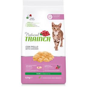 Сухой корм для котят от 7 до 12 месяцев Natural TRAINER Young с курицей 1.5 кг