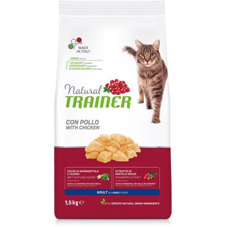 Сухой корм для кошек Natural TRAINER Adult с курицей 1.5 кг