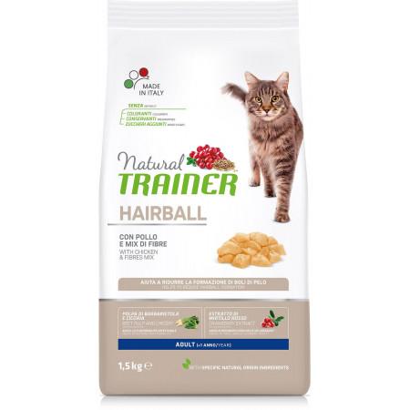 Сухой корм для кошек Natural TRAINER Adult Hairball для вывода шерсти, с курицей 1.5 кг