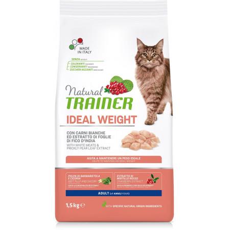 Сухой корм для кошек Natural TRAINER Adult Ideal Weight при избыточном весе с белым мясом 1.5 кг