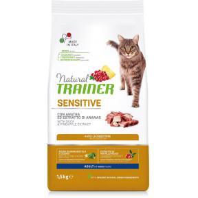 Сухой корм для кошек Natural TRAINER Adult Sensitive при чувствительном пищеварении, с уткой и с экстрактом ананаса 1.5 кг