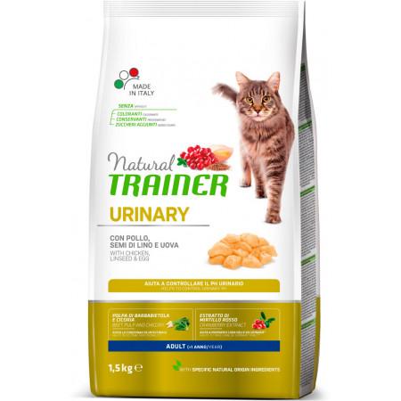 Сухой корм для кошек Natural TRAINER Adult Urinary для профилактики МКБ, с курицей и с яйцом 1.5 кг