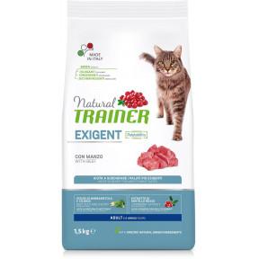 Сухой корм для привередливых кошек Natural TRAINER Adult Exigent с говядиной 1.5 кг