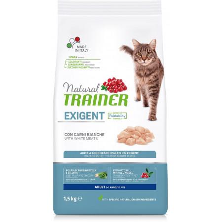 Сухой корм для привередливых кошек Natural TRAINER Adult Exigent with White Meats с белым мясом 1.5 кг