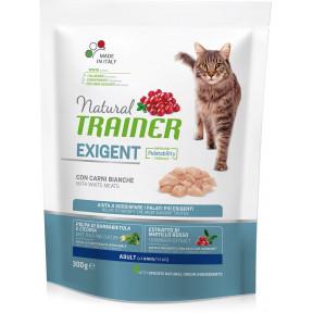 Сухой корм для привередливых кошек Natural TRAINER Adult Exigent with White Meats с белым мясом 300 г