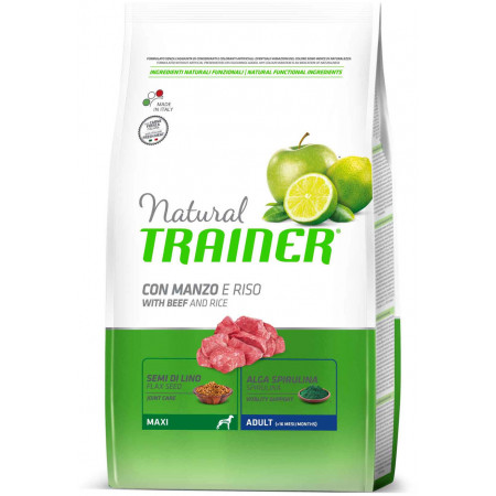 Сухой корм для собак Natural TRAINER Adult Maxi c говядиной и с рисом (для крупных пород) 3 кг