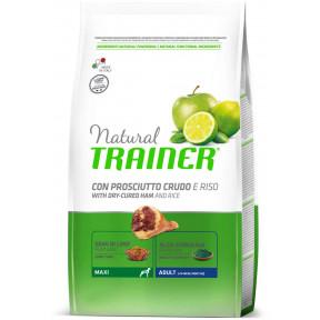 Сухой корм для собак Natural TRAINER Adult Maxi c сыровяленной ветчиной и с рисом (для крупных пород) 3 кг