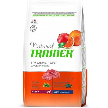 Сухой корм для собак Natural TRAINER Adult Medium c говядиной и с рисом (для средних пород) 12 кг