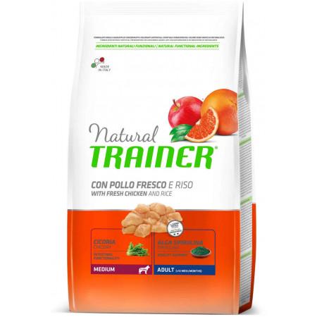 Сухой корм для собак Natural TRAINER Adult Medium c курицей и с рисом (для средних пород) 12 кг