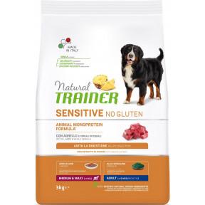 Сухой корм для собак Natural TRAINER Sensitive Medium & Maxi No Gluten безглютеновый, с ягненком (для средних и крупных пород) 3 кг
