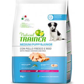 Сухой корм для щенков Natural TRAINER Puppy & Junior Medium с курицей (для средних пород) 3 кг