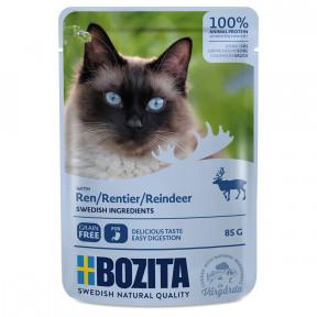 Влажный корм для кошек BOZITA беззерновой, с олениной (кусочки в соусе) 85 г