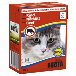 Влажный корм для кошек BOZITA Feline беззерновой, с говядиной (кусочки в соусе) 370 г