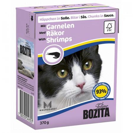 Влажный корм для кошек BOZITA Feline беззерновой, с креветками (кусочки в соусе) 370 г