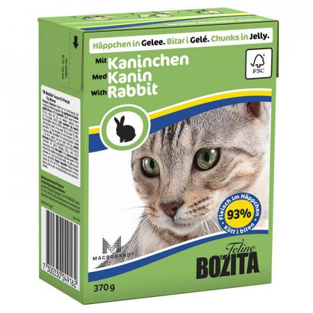 Влажный корм для кошек BOZITA Feline беззерновой, с кроликом (кусочки в желе) 370 г