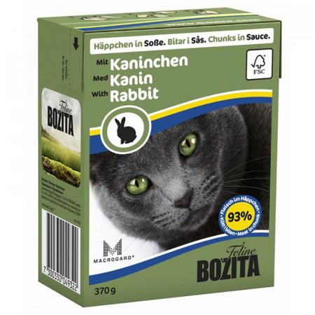 Влажный корм для кошек BOZITA Feline беззерновой, с кроликом (кусочки в соусе) 370 г