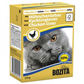 Влажный корм для кошек BOZITA Feline беззерновой, с куриной печенью (кусочки в желе) 370 г
