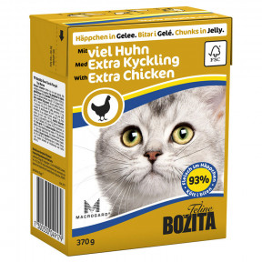 Влажный корм для кошек BOZITA Feline беззерновой, с курицей (кусочки в желе) 370 г