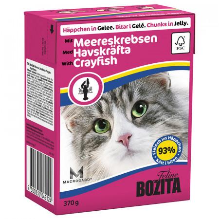 Влажный корм для кошек BOZITA Feline беззерновой, с лангустом (кусочки в желе) 370 г