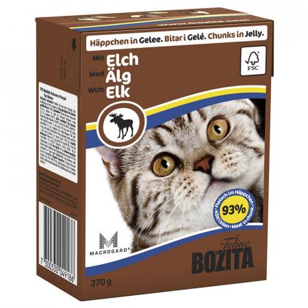 Влажный корм для кошек BOZITA Feline беззерновой, с мясом лося кусочки