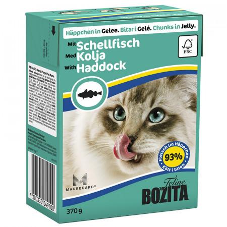 Влажный корм для кошек BOZITA Feline беззерновой, с океанической рыбой (кусочки в желе) 370 г