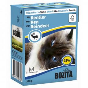 Влажный корм для кошек BOZITA Feline беззерновой, с олениной (кусочки в соусе) 370 г