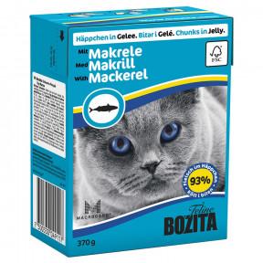 Влажный корм для кошек BOZITA Feline беззерновой, со скумбрией (кусочки в желе) 370 г