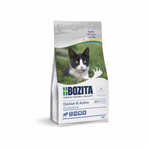 Сухой корм для активных кошек, гуляющих на улице BOZITA Outdoor & Activе с мясом лося 10 кг