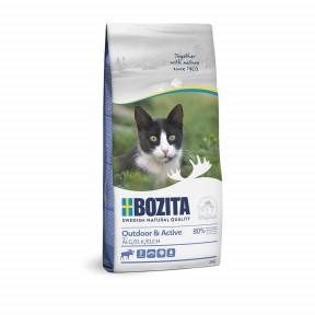 Сухой корм для активных кошек, гуляющих на улице BOZITA Outdoor & Activе с мясом лося 400 г