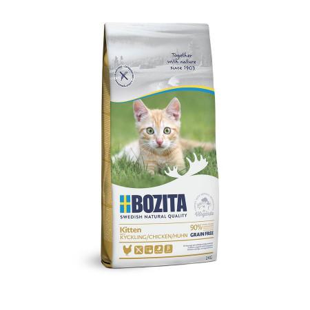 Сухой корм для котят, для беременных/кормящих кошет BOZITA Kitten беззерновой, с курицей 2 кг