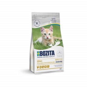 Сухой корм для котят, для беременных/кормящих кошет BOZITA Kitten беззерновой, с курицей 400 г