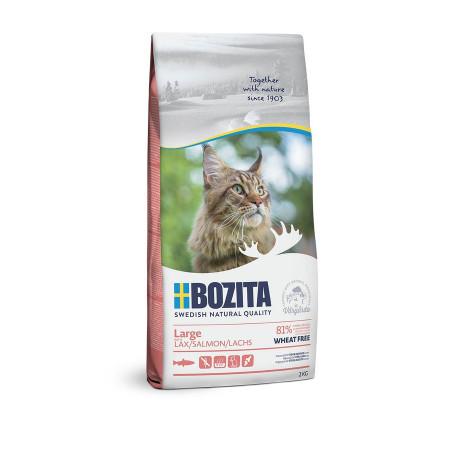 Сухой корм для кошек крупных пород BOZITA Large с лососем 2 кг