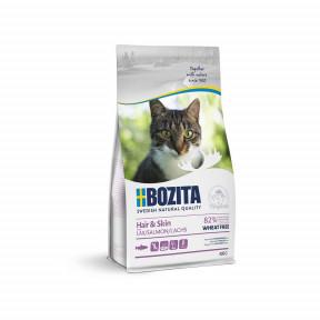 Сухой корм для кошек BOZITA Hair & Skin для здоровья кожи и шерсти с лососем 400 г