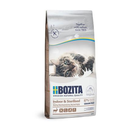 Сухой корм для стерилизованных кошек BOZITA Indoor & Sterilized беззерновой, с олениной 2 кг
