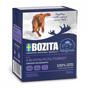 Влажный корм для собак BOZITA Naturals беззерновой, индейка, кусочки в желе 370 г