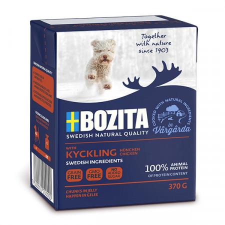 Влажный корм для собак BOZITA Naturals беззерновой, курица, кусочки в желе 370 г
