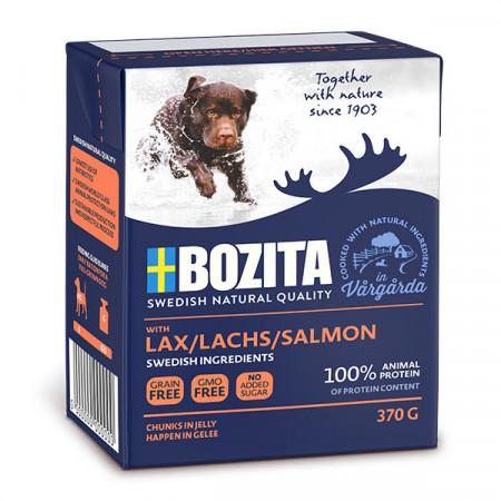 Влажный корм для собак BOZITA Naturals беззерновой, лосось, кусочки в желе 370 г