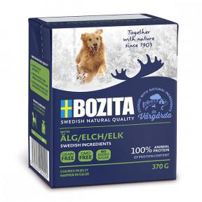 Влажный корм для собак BOZITA Naturals беззерновой, лось, кусочки в желе 370 г