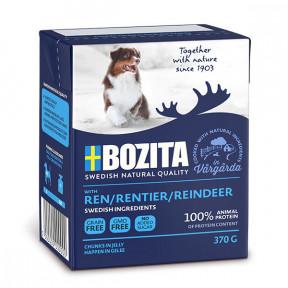 Влажный корм для собак BOZITA Naturals беззерновой, оленина, кусочки в желе 370 г