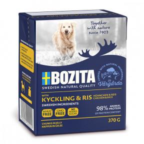 Влажный корм для собак BOZITA Naturals курица с рисом, кусочки в желе 370 г